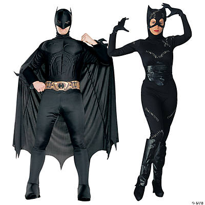 sc 1 st  Oriental Trading & Adultu0027s Batman u0026 Catwoman Couples Costumes