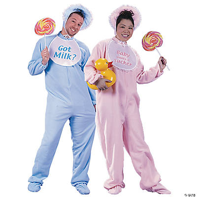 sc 1 st  Oriental Trading & Adultu0027s Big Baby Couples Costumes