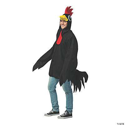 Adult's Black Rooster Costume
