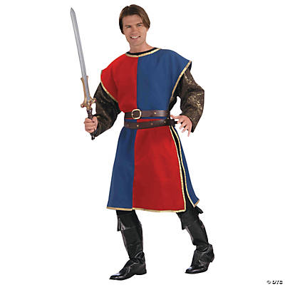Adult's Blue & Red Medieval Tabard Costume