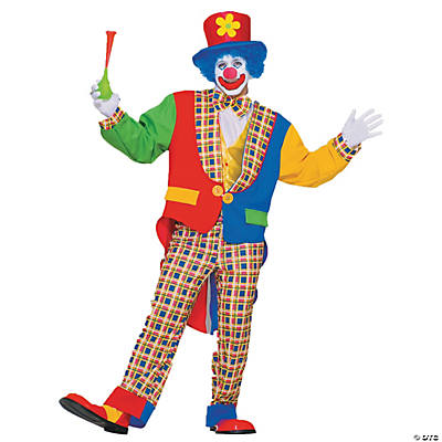 Adult's Clown On The Town Costume