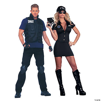 sc 1 st  Oriental Trading & Adultu0027s FBI Couples Costumes