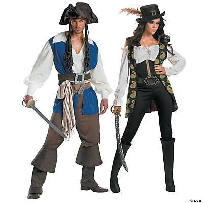 adults pirates of the caribbean captain jack sparrow angelica couples costumes