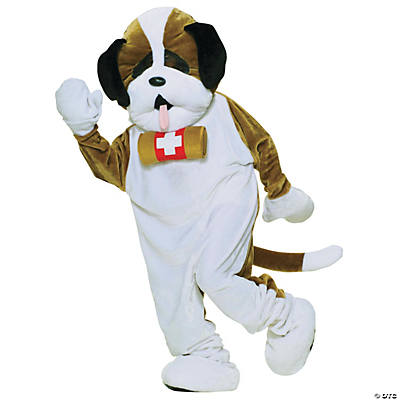 Adult's St. Bernard Puppy Dog Mascot Costume