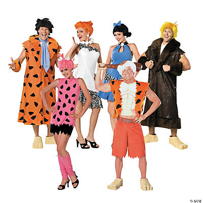 adults the flintstones group costumes - Halloween Flintstones