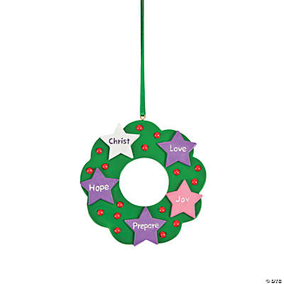Advent Wreath Christmas Ornaments