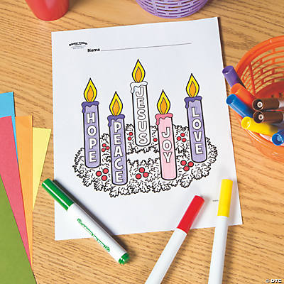 Advent Wreath Free Printable Coloring Page