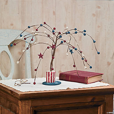 Americana Willow Tree with Stars