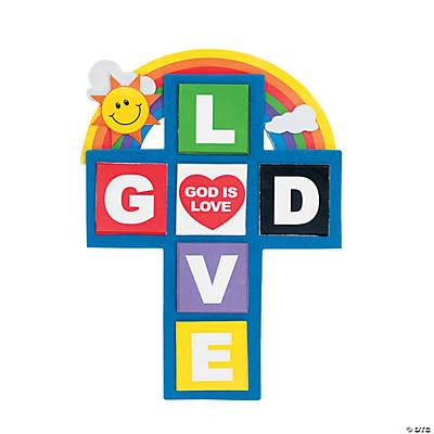�god is love� cross magnet craft kit