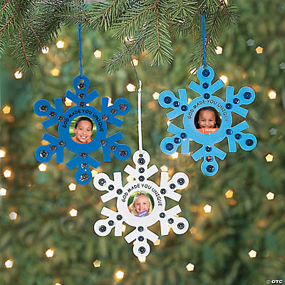 God made you unique snowflake picture frame ornament for Photo frame ornament craft