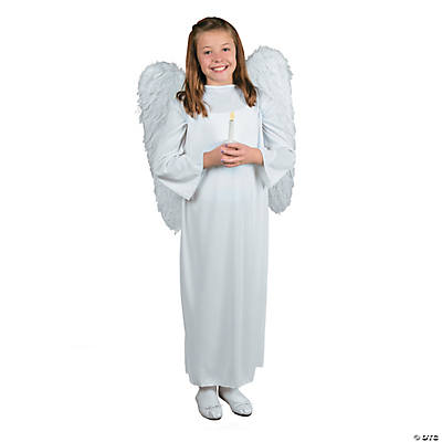 Angel Costume with Candle -  Child Large/XL