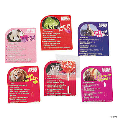 Animal Planet Valentine Exchange Cards With Lollipops Oriental – Animal Valentine Cards