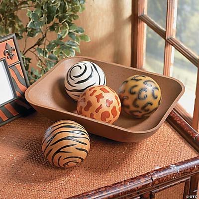 Leopard Decorative Balls Best Animal Print Decorative Balls  Oriental Trading  Discontinued Design Inspiration