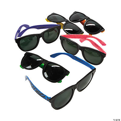 Animal Print Neon Sunglasses