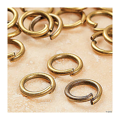Antique Gold-Finish Metal Jumprings - 6mm