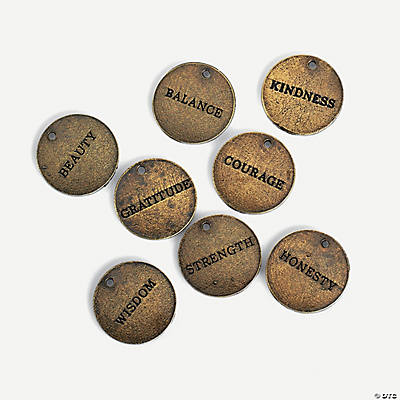 Antique Gold Inspirational Tag Charms
