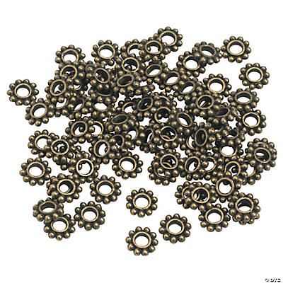 Antique Goldtone Daisy Spacer Beads - 6mm
