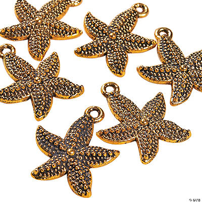 Antique Goldtone Starfish Charms