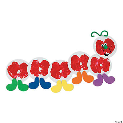 Apple Print Caterpillar Craft Kit