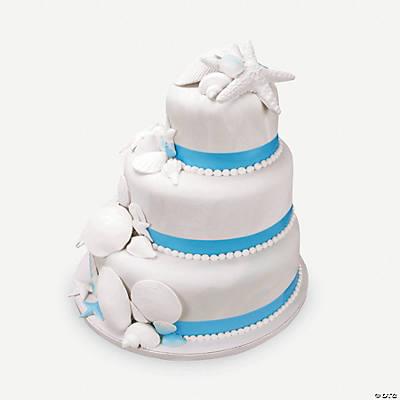 Aqua blue shimmer blue ribbon edible image cake for K decorations trading