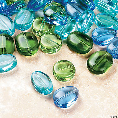 Aqua, Green & Blue Beads - 6mm-12mm