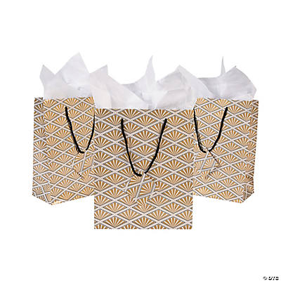 Medium gold gift bags quickview image of art deco medium gift bags with sku13625095 negle Image collections