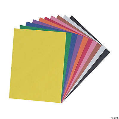 "Assorted Color Riverside® Construction Paper - 9"" x 12"""