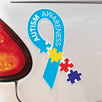 Autism Awareness Ribbon Autism Puzzle Piece Products - Custom awareness car magnet