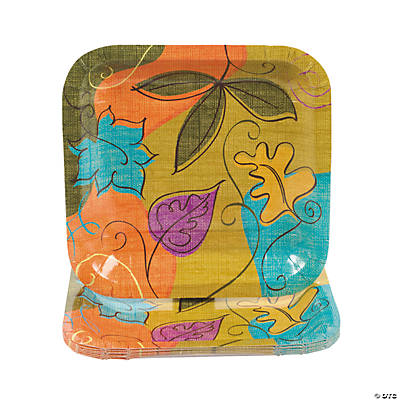 Autumn Leaves Square Dessert Plates