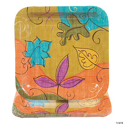 Autumn Leaves Square Dinner Plates