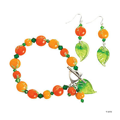 Autumn Pumpkin and Crystal Bracelet Project Idea