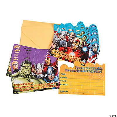 Avengers Assemble Invitations/Thank-You Postcards