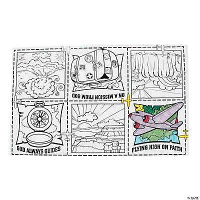 Awesome Adventure Coloring Tablecloth