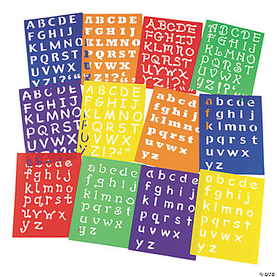 Awesome Alphabet Stencils