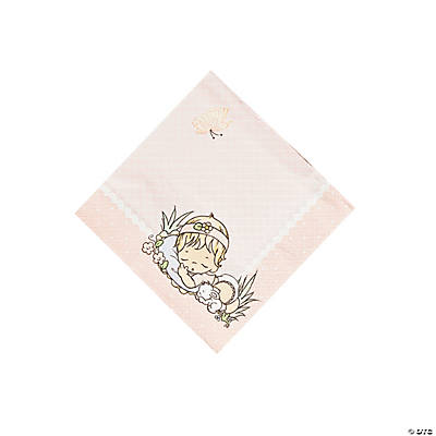 Baby Girl Precious Moments® Baby Shower Beverage Napkins