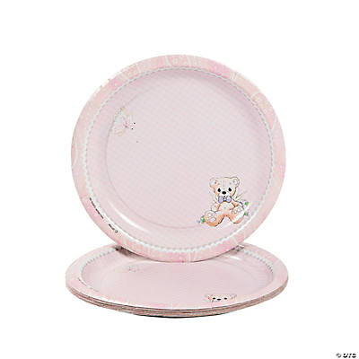 Baby Girl Precious Moments® Baby Shower Dessert Plates