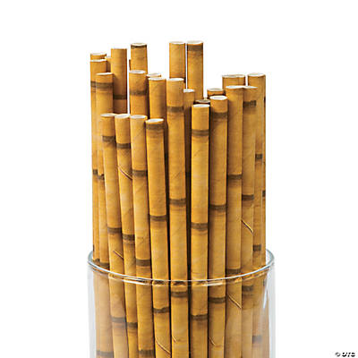 bamboo paper straws from oriental trading