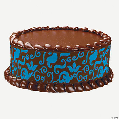 Baroque in blue cake design print edible image cake for K decorations trading