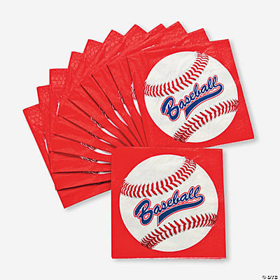 """Baseball"" Beverage Napkins"