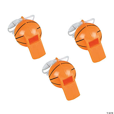 Basketball-Shaped Whistles