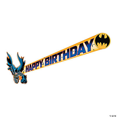Batman Heroes Birthday Banner