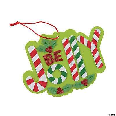 Be Jolly Candy Cane Sign Craft Kit