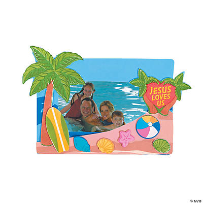Beach VBS Picture Frame Magnet Craft Kit