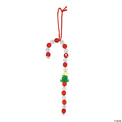 Beaded Candy Cane Christmas Ornament Craft Kit
