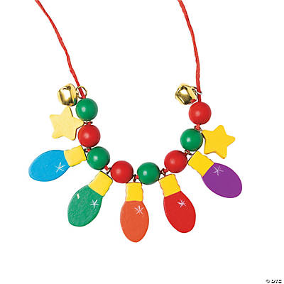 Beaded Christmas Bulb Necklace Craft Kit