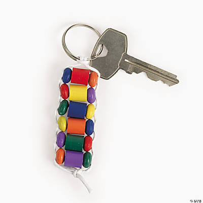 Beaded Colorful Key Chain Craft Kit