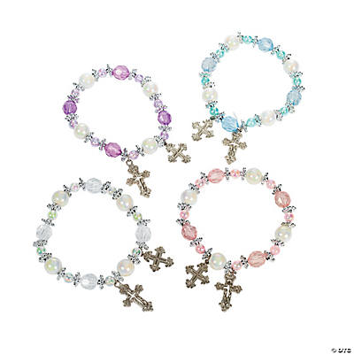 Beaded Cross Bracelet Craft Kit