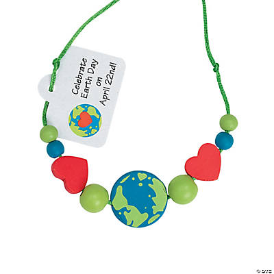 Beaded Earth Day Necklace Craft Kit