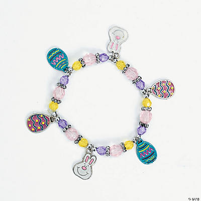Beaded Easter Charm Bracelet Craft Kit