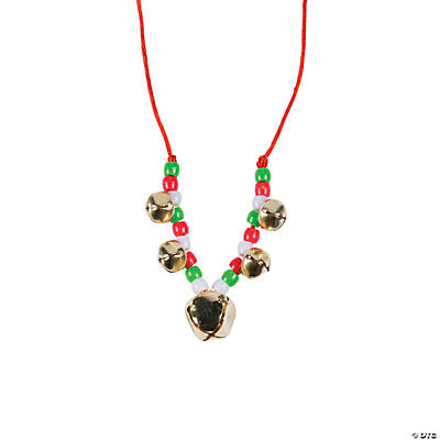 Beaded Jingle Bell Necklace Craft Kit - 12